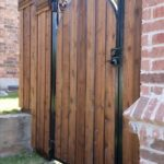 wood and iron gate